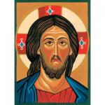 """Канва с рисунком для вышивания гобелена """"Иисус Христос"""" 30х40см """"Collection D'art"""""""
