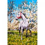 """Канва с рисунком для вышивания гобелена """"Лошадь в саду"""" 30х40см """"Grafitec"""" (Греция)"""