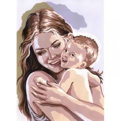 """Канва с рисунком для вышивания гобелена """"Мамина радость"""" 30х40см """"Grafitec"""" (Греция)"""