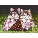 "Канва с рисунком для вышивания гобелена ""Котята"" 30х40см ""Grafitec"" (Греция)"