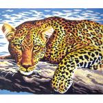 """Канва с рисунком для вышивания гобелена """"Леопард"""" 30х40см """"Grafitec"""" (Греция)"""