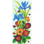"""Канва с рисунком для вышивания гобелена """"Цветы"""" 30х60см """"Grafitec"""" (Греция)"""