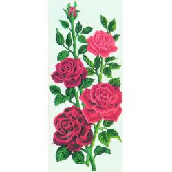 """Канва с рисунком для вышивания гобелена """"Алые розы"""" 30х60см """"Grafitec"""" (Греция)"""