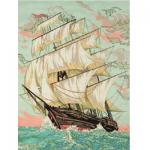 "Канва с рисунком для вышивания гобелена ""Бушующий океан"" 50х60см ""Grafitec"" (Греция)"