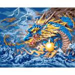 """Канва с рисунком для вышивания гобелена """"Сказочный дракон"""" 50х60см """"Grafitec"""" (Греция)"""