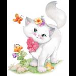 """Канва с рисунком для вышивания гобелена """"Милый котёнок"""" 30х40см """"Grafitec"""" (Греция)"""