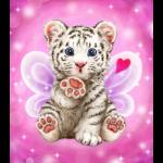 "Канва с рисунком для вышивания гобелена ""Поцелуй тигрёнка"" 30х40см ""Grafitec"" (Греция)"