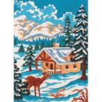 """Канва с рисунком для вышивания гобелена """"Зимнее волшебство"""" 30х40см """"Grafitec"""" (Греция)"""