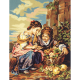 """Канва с рисунком для вышивания гобелена """"Девушки с корзиной винограда"""" 60х75см """"Gobelin Diamant"""""""