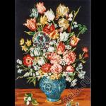"""Канва с рисунком для вышивания гобелена """"Букет в синей вазе"""" 60х75см """"Gobelin Diamant"""""""