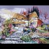"Канва с рисунком для вышивания гобелена ""Цветущий сад"" 60х75см ""Gobelin Diamant"""