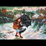 """Канва с рисунком для вышивания гобелена """"Зимой за подснежниками"""" 60х80см """"Gobelin Diamant"""""""
