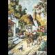 """Канва с рисунком для вышивания гобелена """"Деревенская улочка"""" 60х45см """"Gobelin Diamant"""""""