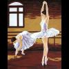 "Канва с рисунком для вышивания гобелена ""Уроки балета"" 60х50см ""Gobelin Diamant"""