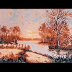 "Канва с рисунком для вышивания гобелена ""Осень"" 50х40см ""Gobelin Diamant"""
