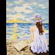 "Канва с рисунком для вышивания гобелена ""Мечты у моря"" 40х50см ""Gobelin Diamant"""