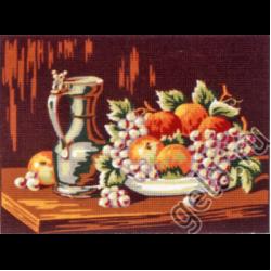 """Канва с рисунком для вышивания гобелена """"Натюрморт с медным кувшином"""" 30х40см """"Gobelin Diamant"""""""