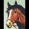 """Канва с рисунком для вышивания гобелена """"Голова рыжего коня"""" 30х40см """"Gobelin Diamant"""""""