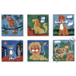 """Канва с рисунком для вышивания гобелена """"Детские сюжеты 6шт"""" 90х60см """"Gobelin Diamant"""""""