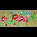 """Канва с рисунком для вышивания гобелена """"Маки и васильки"""" 40х80см """"Gobelin Diamant"""""""