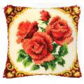 """Набор для вышивания Подушка """"Красные розы"""" 40х40см """"Vervaco"""""""