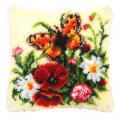 """Набор для вышивания Подушка """"Бабочка и цветы"""" 40х40см """"Vervaco"""""""