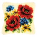 """Набор для вышивания Подушка """"Полевые цветы"""" 40х40см """"Vervaco"""""""
