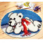 """Набор для вышивания Коврик """"Белый медвежонок"""" 65х45см """"Vervaco"""""""