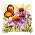 """Набор для вышивания Подушка """"Эхинацея и бабочка"""" 40х40см """"Vervaco"""""""