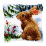 """Набор для вышивания Подушка """"Кролик на снегу"""" 40х40см """"Vervaco"""""""