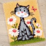 """Набор для вышивания Коврик """"Кошка в цветах"""" 43х53см """"Vervaco"""""""