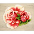"""Набор для вышивания Коврик """"Розовые розы"""" 70х65см """"Vervaco"""""""