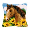 """Набор для вышивания Подушка """"Лошадь в подсолнухах"""" 40х40см """"Vervaco"""""""