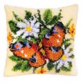 "Набор для вышивания Подушка ""Оранжевая бабочка"" 40х40см ""Vervaco"""