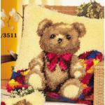 """Набор для вышивания Подушка """"Медвежонок с бантиком"""" 40х40см """"Vervaco"""""""
