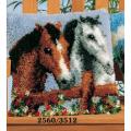 """Набор для вышивания Подушка """"Пара лошадей"""" 40х40см """"Vervaco"""""""