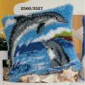 """Набор для вышивания Подушка """"Дельфины"""" 40х40см """"Vervaco"""""""