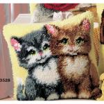 """Набор для вышивания Подушка """"Парочка котят"""" 40х40см """"Vervaco"""""""