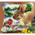 """Набор для вышивания Подушка """"Снегирь и кролик"""" 40х40см """"Vervaco"""""""