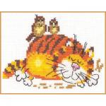 """Набор для вышивания """"Ленивый кот"""" """"Алиса"""""""