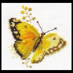 """Набор для вышивания """"Яркие бабочки. Желтая"""" """"Алиса"""""""