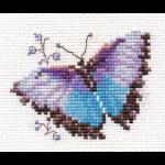 """Набор для вышивания """"Яркие бабочки. Голубая"""" """"Алиса"""""""