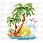 """Набор для вышивания """"Пальмовый островок"""" """"Алиса"""""""