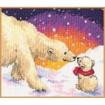 """Набор для вышивания """"Белые медведи"""" """"Алиса"""""""