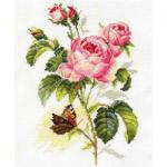 """Набор для вышивания """"Роза и бабочка"""" """"Алиса"""""""
