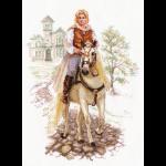 """Набор для вышивания """"Юноша на белом коне"""" """"Алиса"""""""