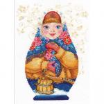 "Набор для вышивания ""Матрешка. Зимняя краса"" ""Алиса"""