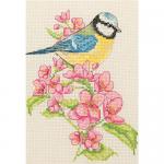 """Набор для вышивания """"Голубая синица на цветущей ветке"""" """"Anchor"""""""