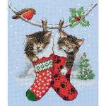 """Набор для вышивания """"Рождественские котята"""" """"Anchor"""""""