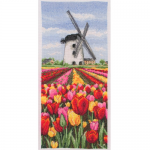 """Набор для вышивания """"Пейзаж с тюльпанами, Голландия"""" """"Anchor"""""""